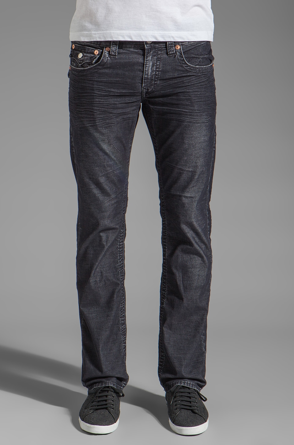 True Religion Ricky Straight Leg Cord in Indigo
