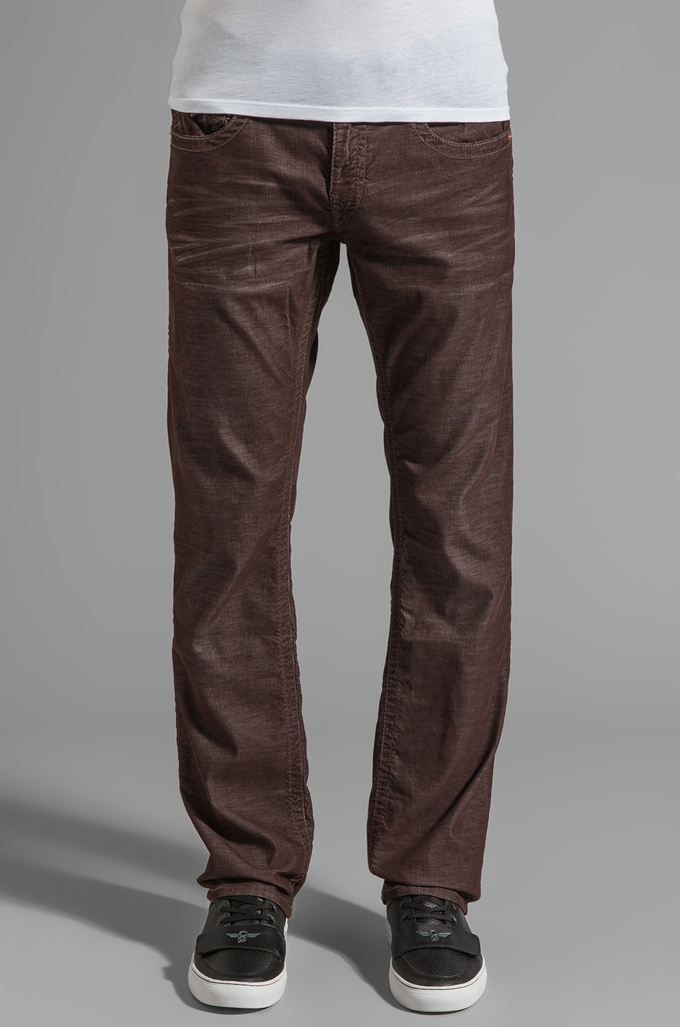 True Religion Ricky Corduroy Classics in Brown