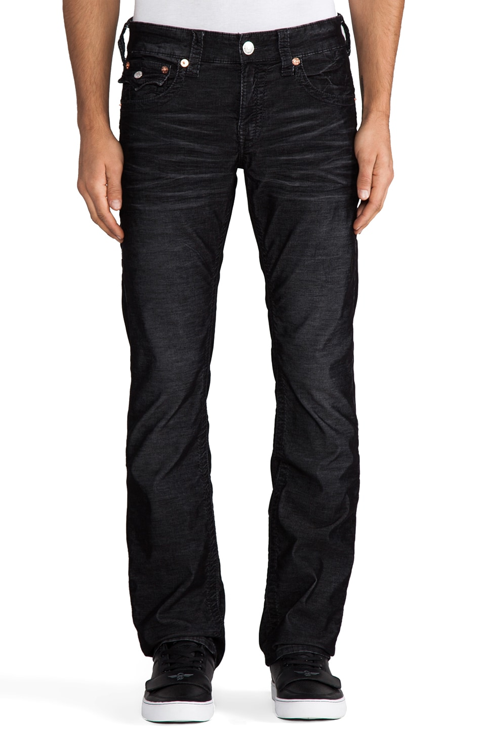 True Religion Ricky Cord in Black