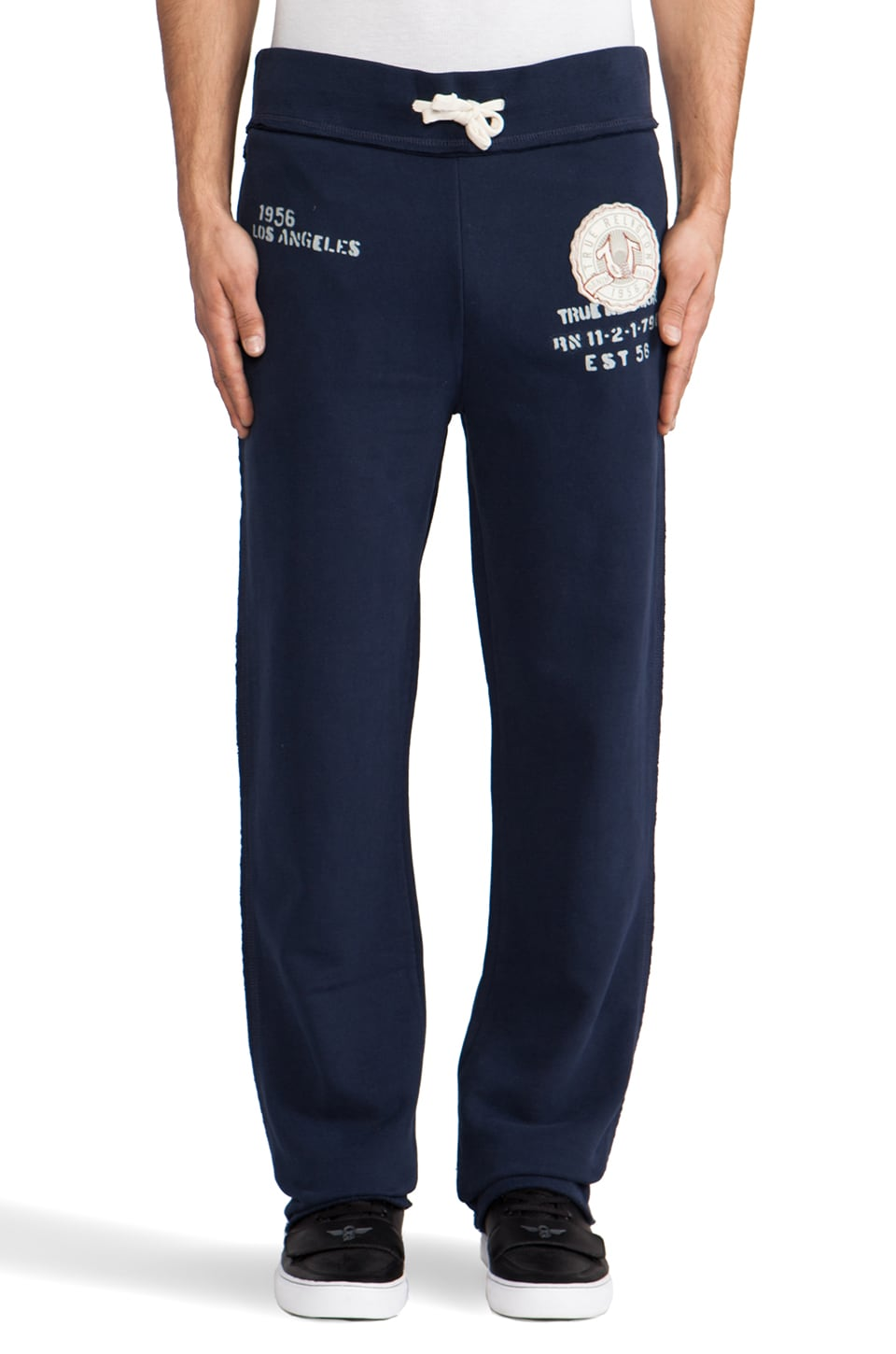 True Religion True Applique Sweatpant in Dark Navy