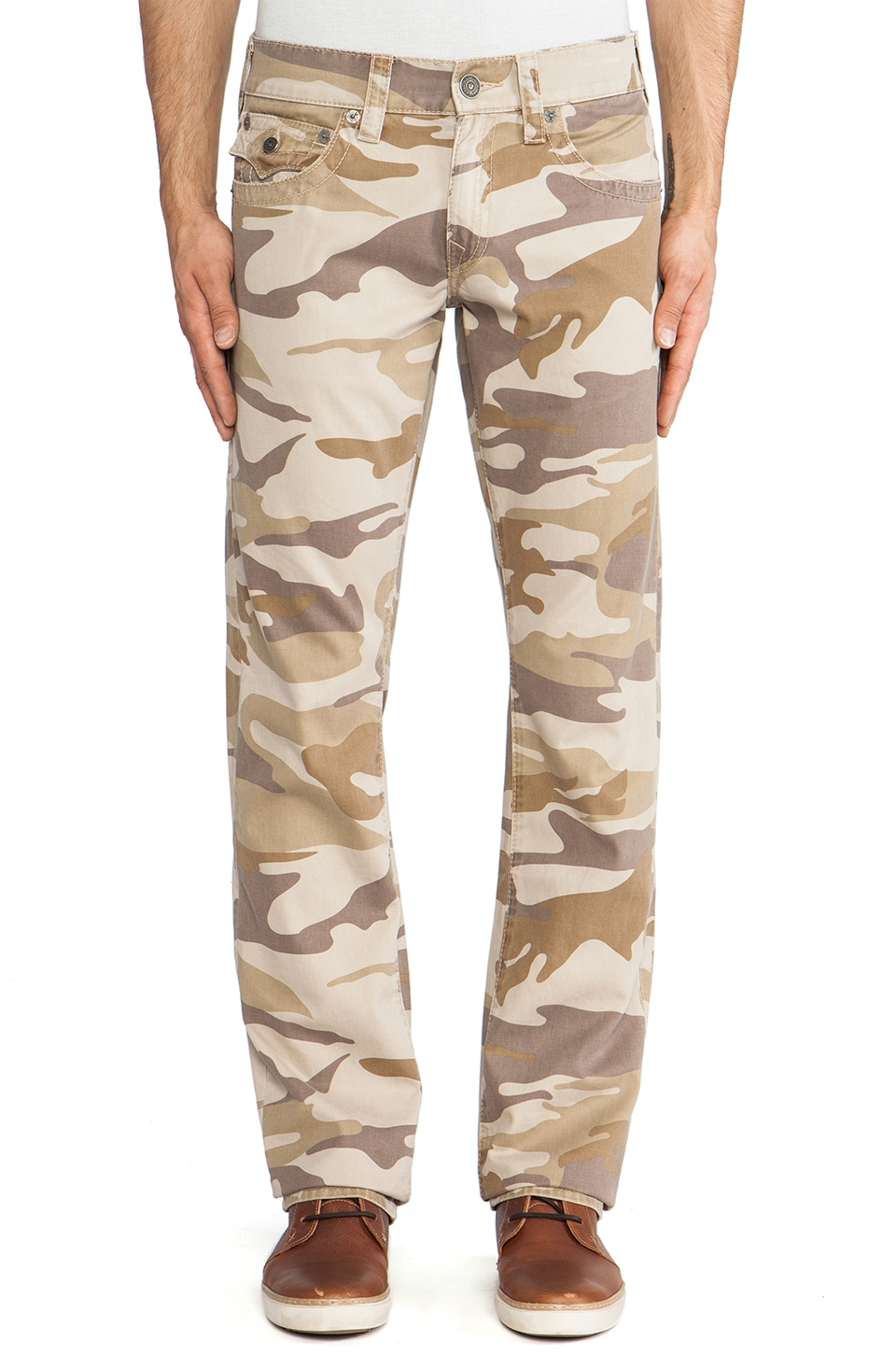 True Religion Ricky Twill in Sand Camo