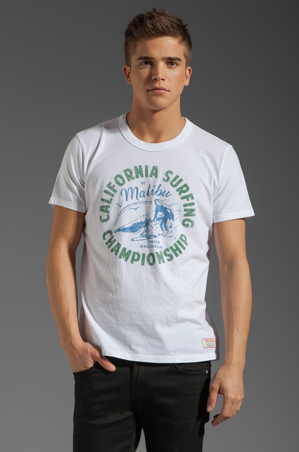 True Religion Cali Surfing Tee in White