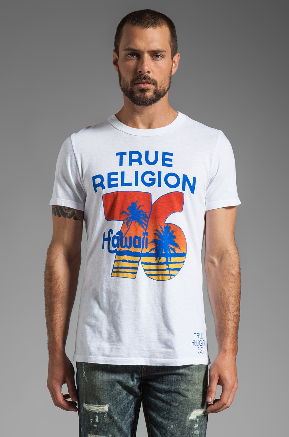 True Religion Hawaii Graphic Tee in White