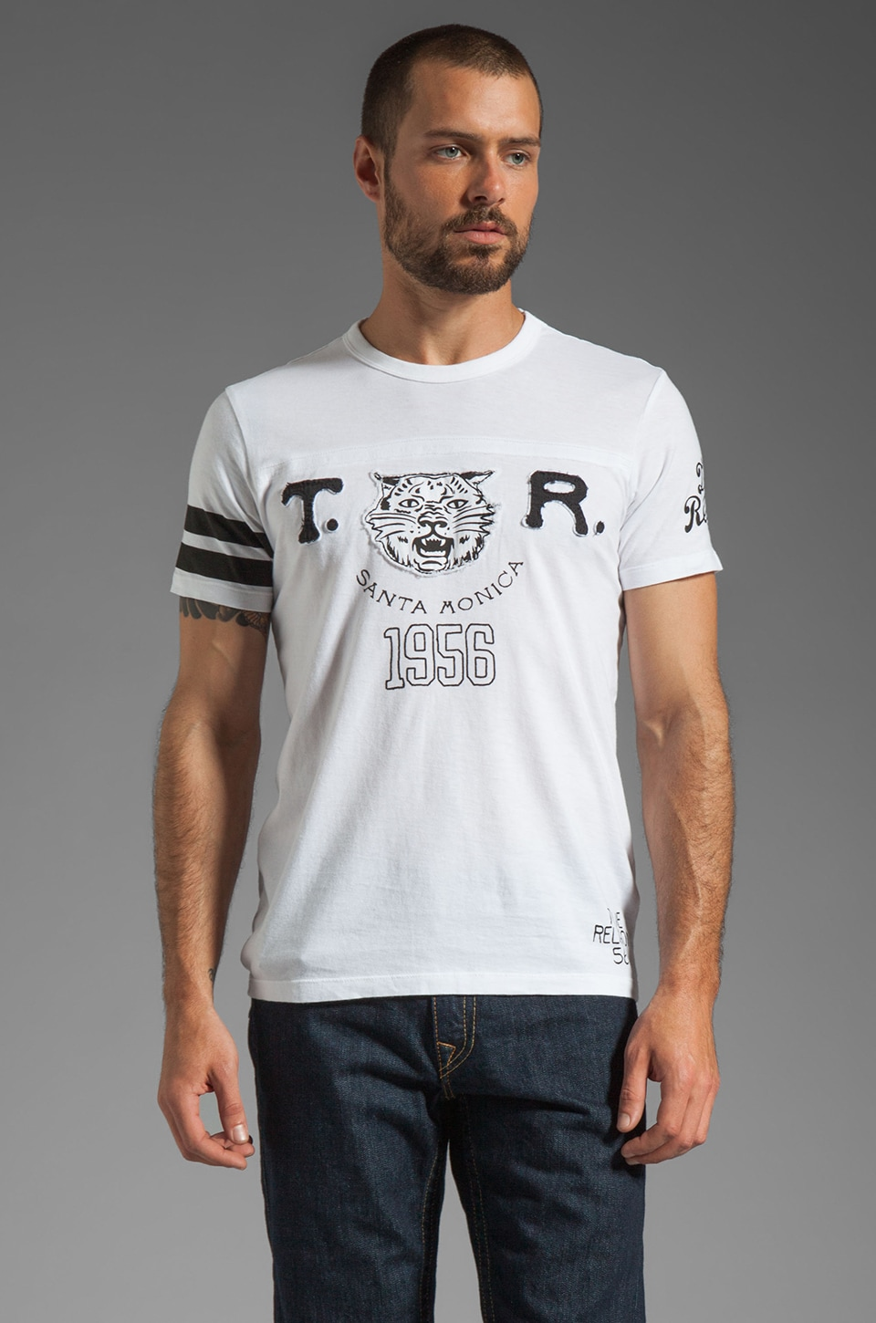 True Religion Lynx Graphic Tee in White