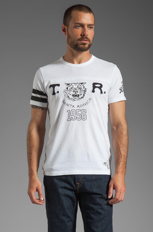 True Religion Lynx Graphic Tee in White