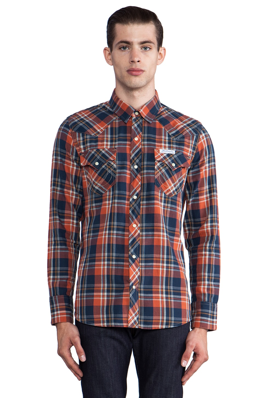 True Religion Plaid Western Shirt in Solstice