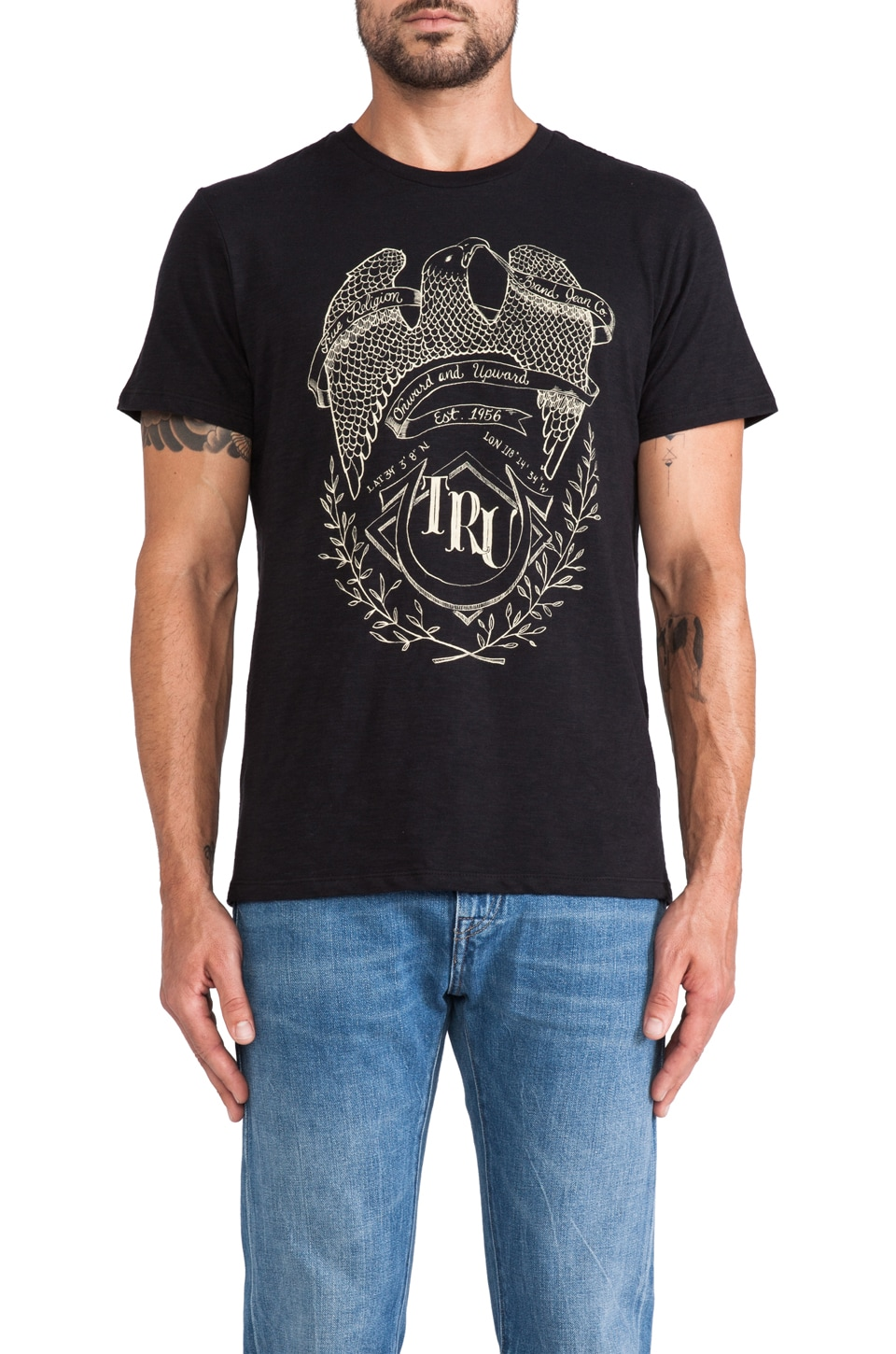 True Religion Onward Tee in Black