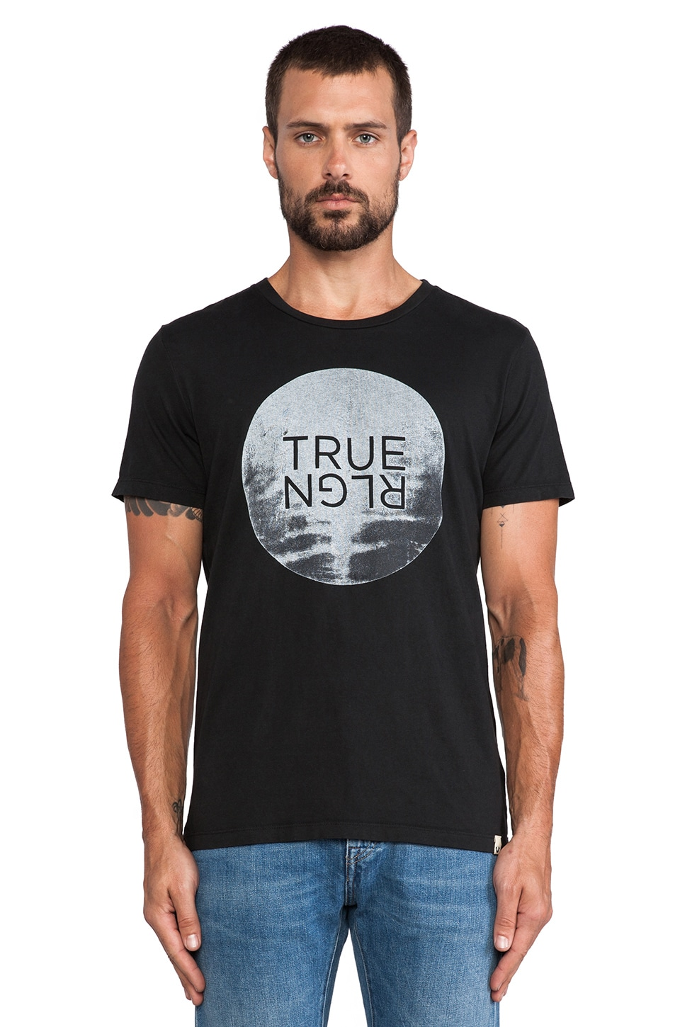 True Religion Moon Rise Tee in Black