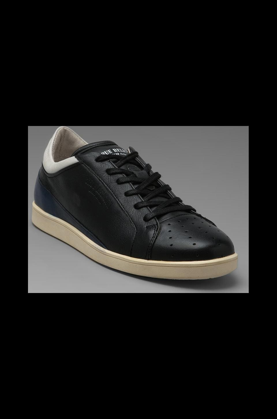 True Religion Lincoln Low Sneaker in Black/Blue/White
