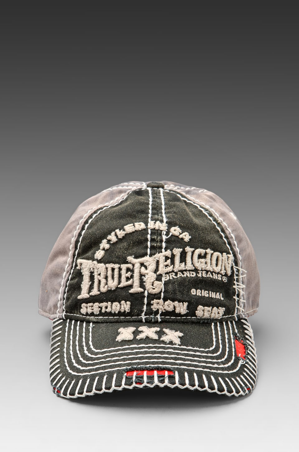 True Religion Triple X Cap in Black