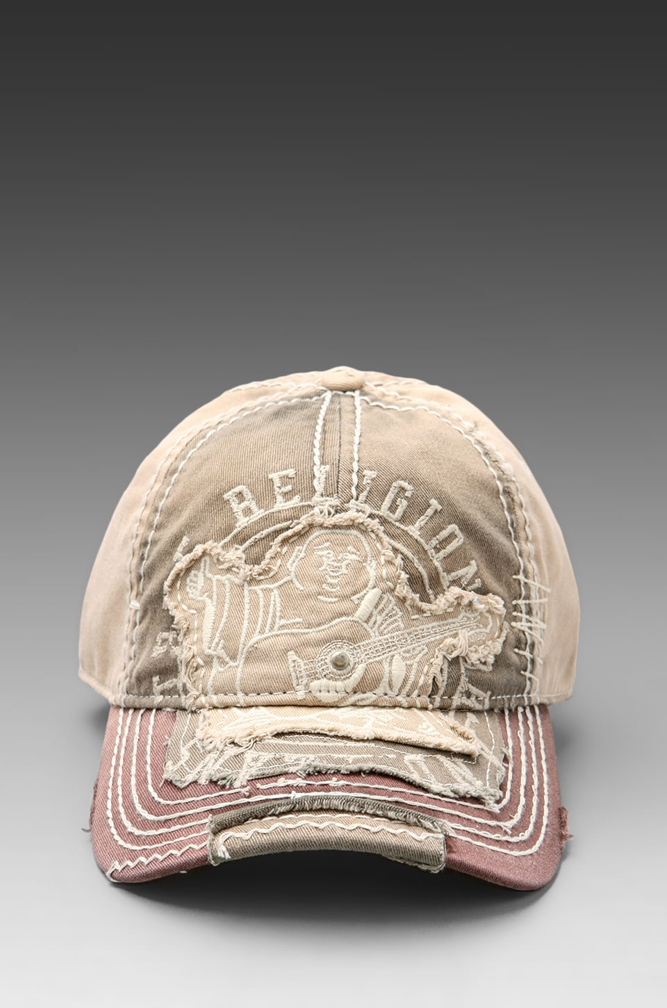 True Religion Big Buddha Cap in Army