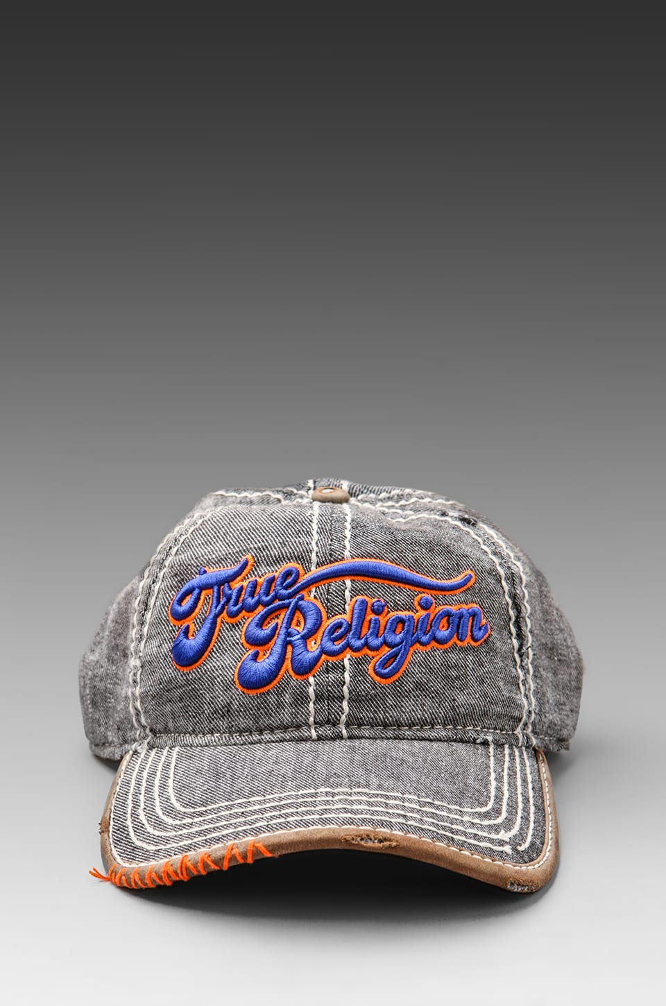 True Religion Script Hat in Black