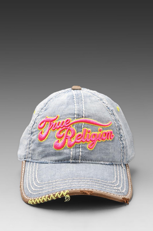 True Religion Script Hat in Indigo