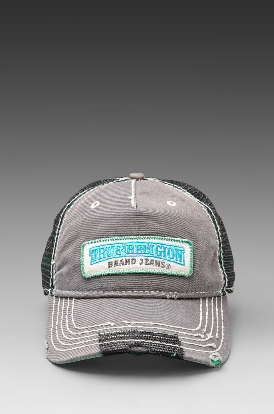 True Religion Twill Patch Cap in Grey