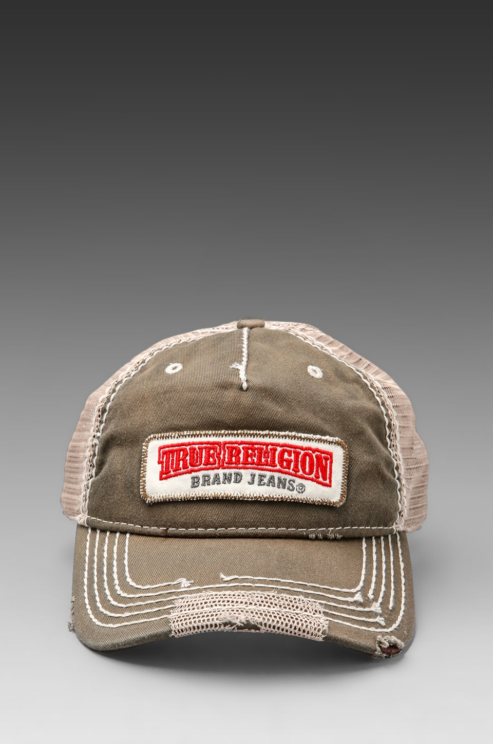 True Religion Twill Patch Cap in Army