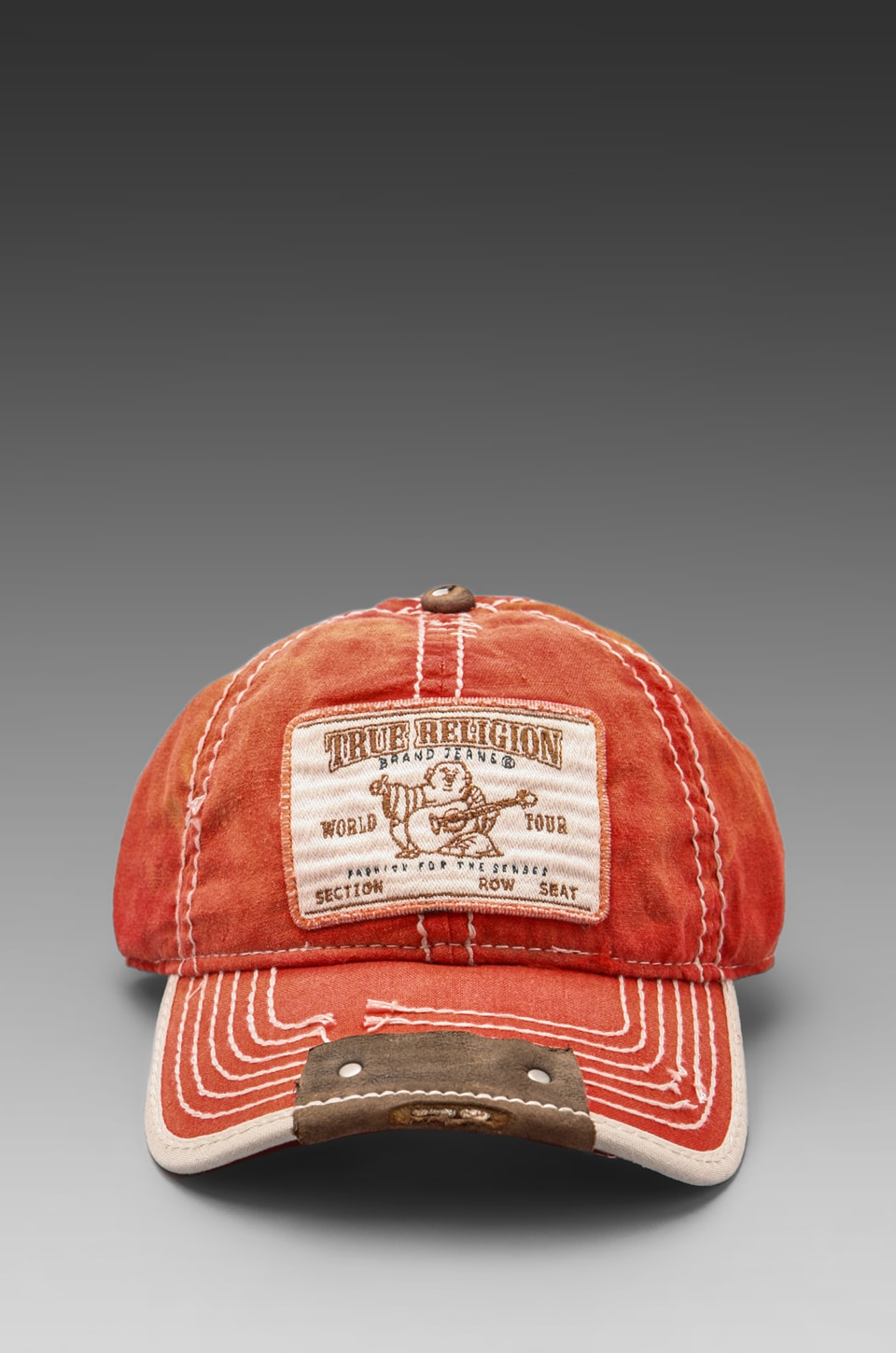 True Religion Buddha Patch Cap in Tomato