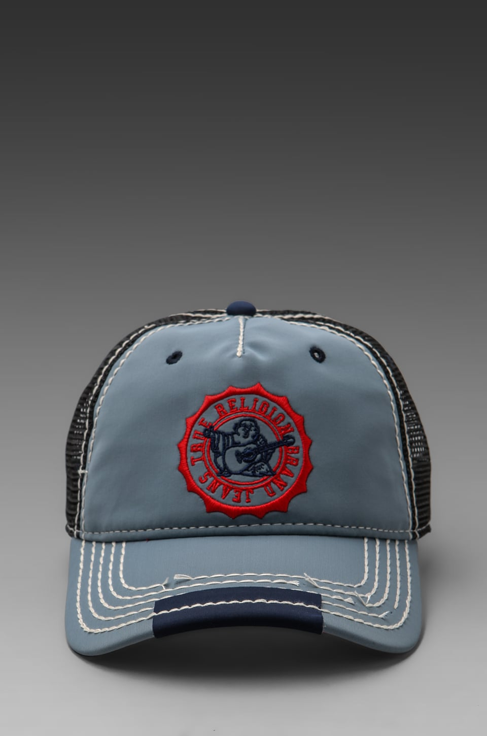 True Religion Neon Baseball Cap in Grey
