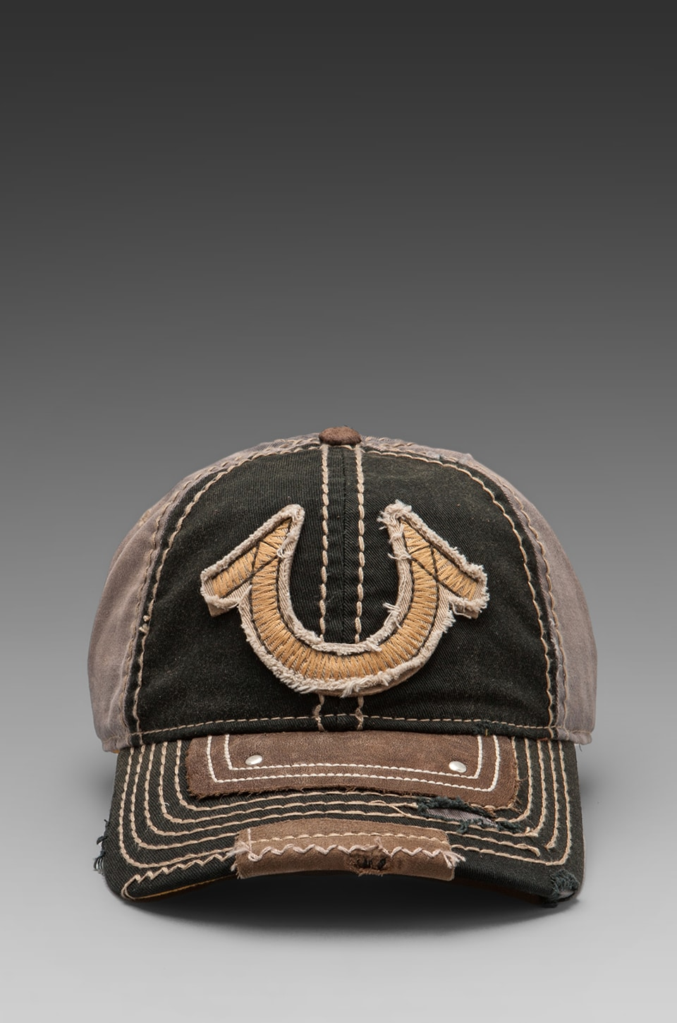 True Religion Vintage Horseshoe Cap in Black