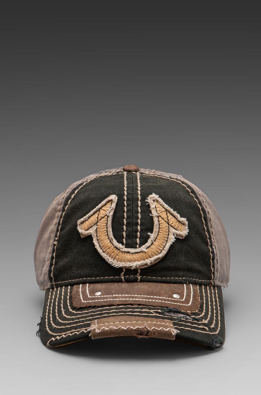 True Religion Vintage Horseshoe Cap in Black