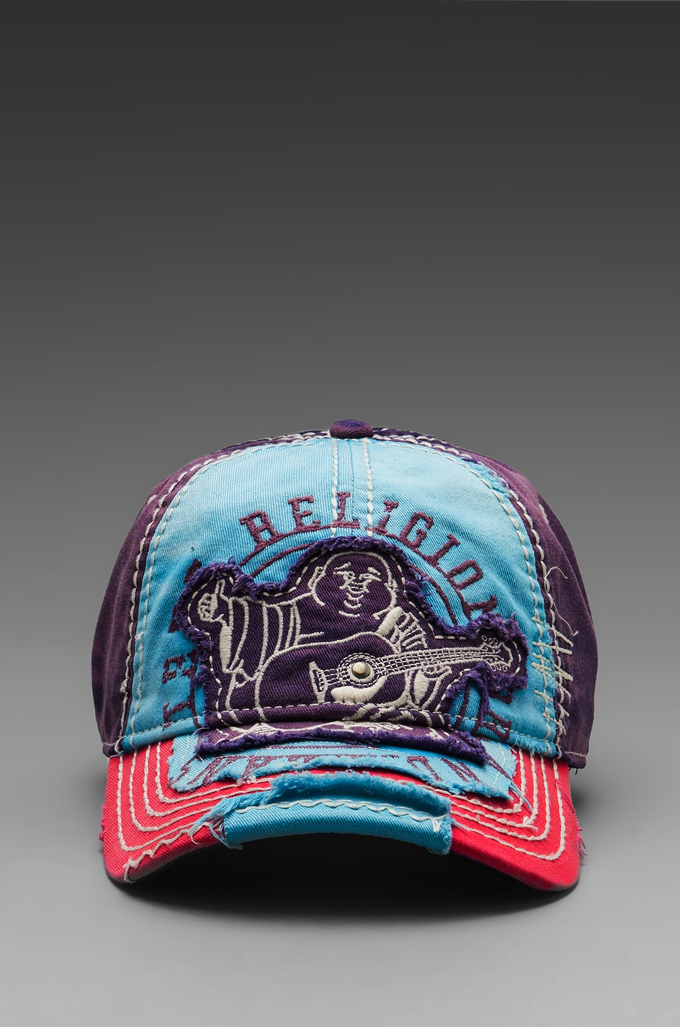 True Religion Big Buddha Cap in Turquoise