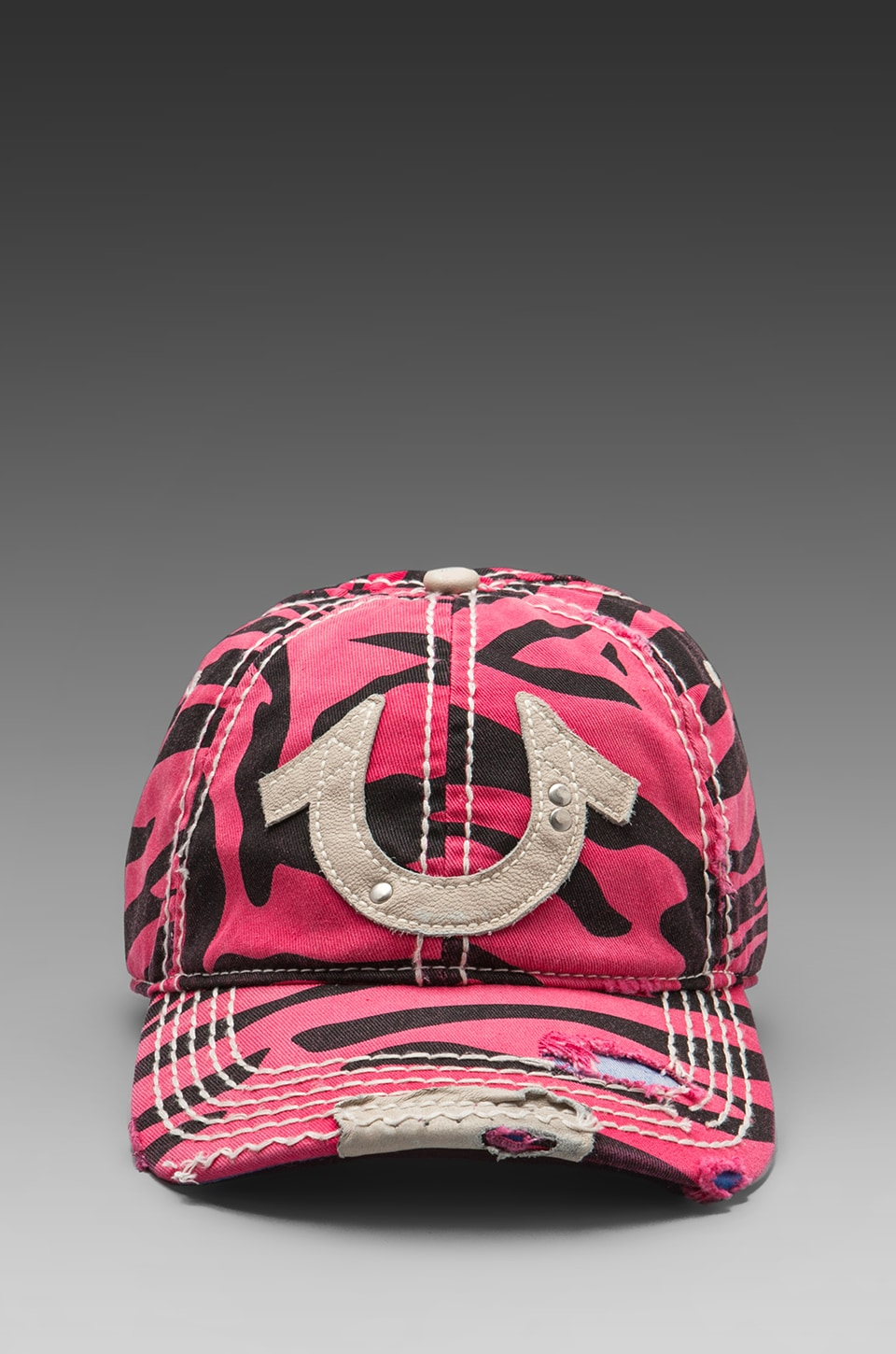 True Religion Zebra Cap in Fuchsia