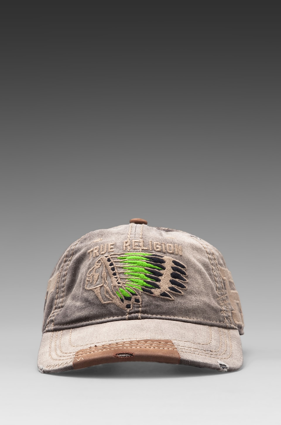 True Religion Chief Baseball Cap in Grey