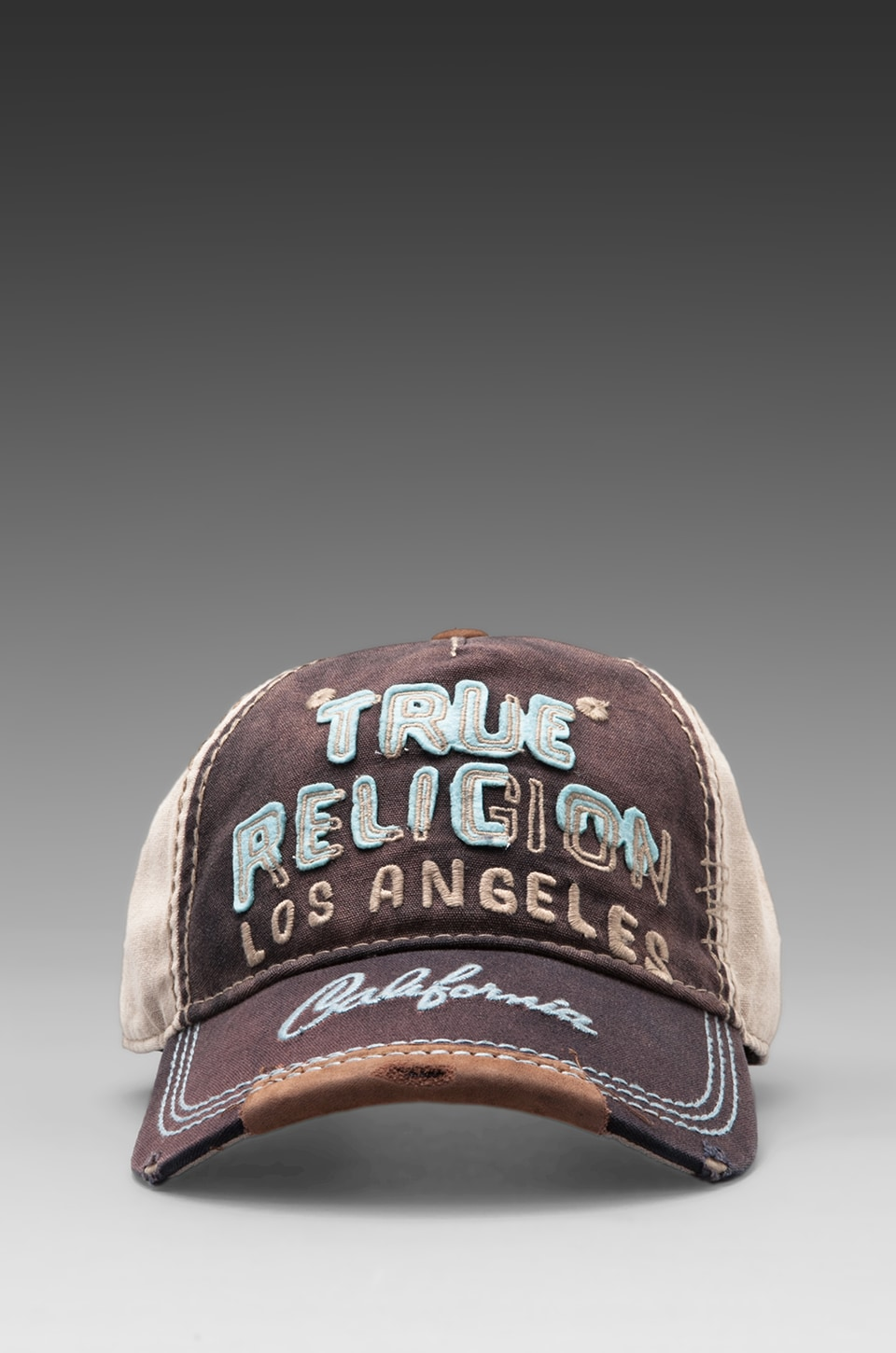 True Religion Felt Graphics Baseball Cap in Navy