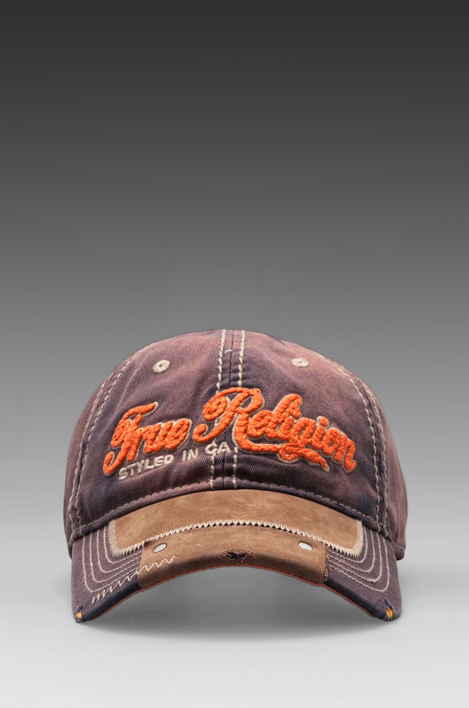 True Religion Script Cap in Dark Navy