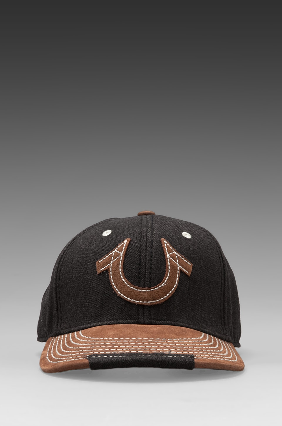 True Religion Horseshoe Snap-Back Baseball Cap in Charcoal