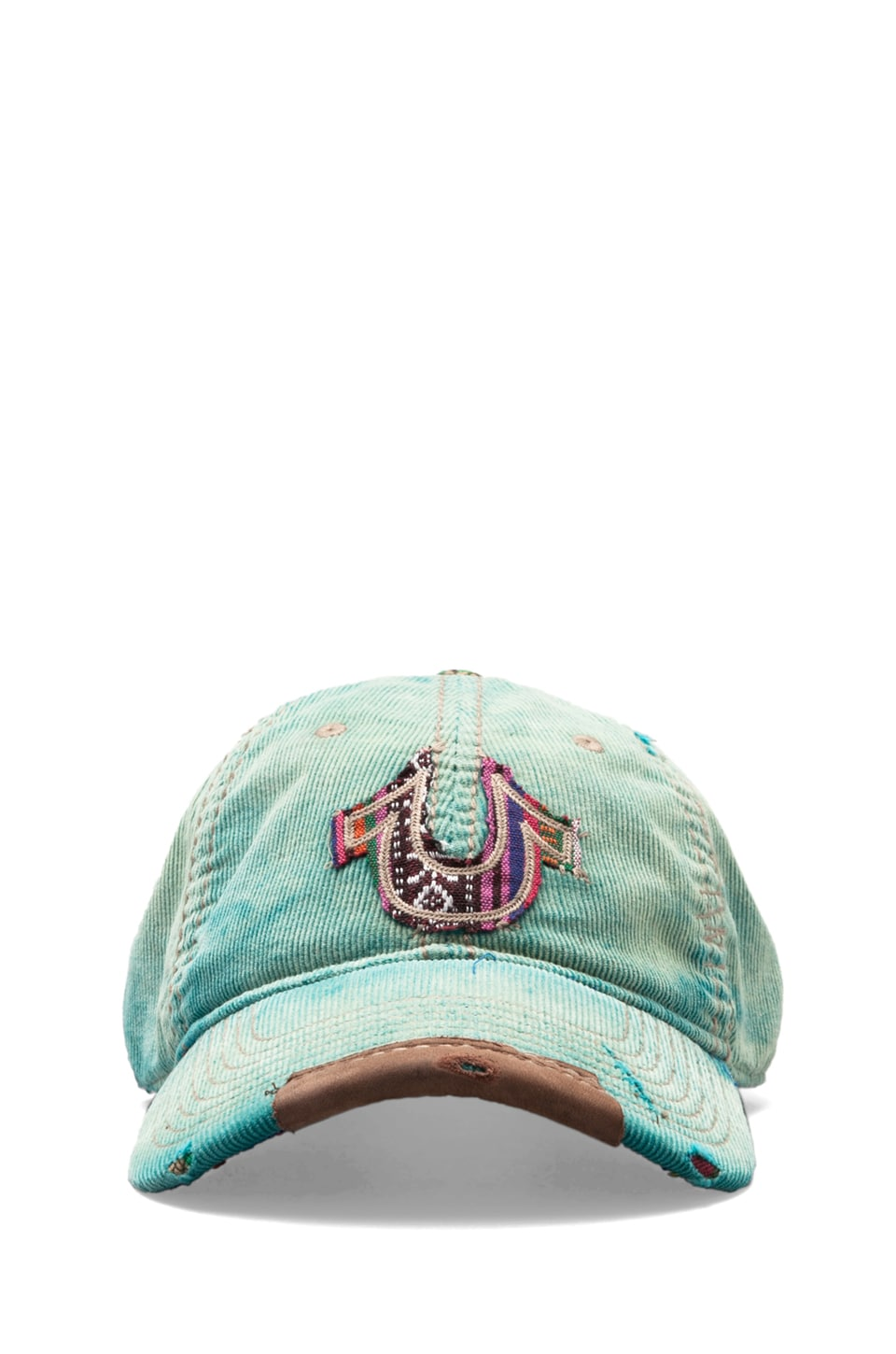 True Religion Corduroy Baseball Cap in Cerulean Blue