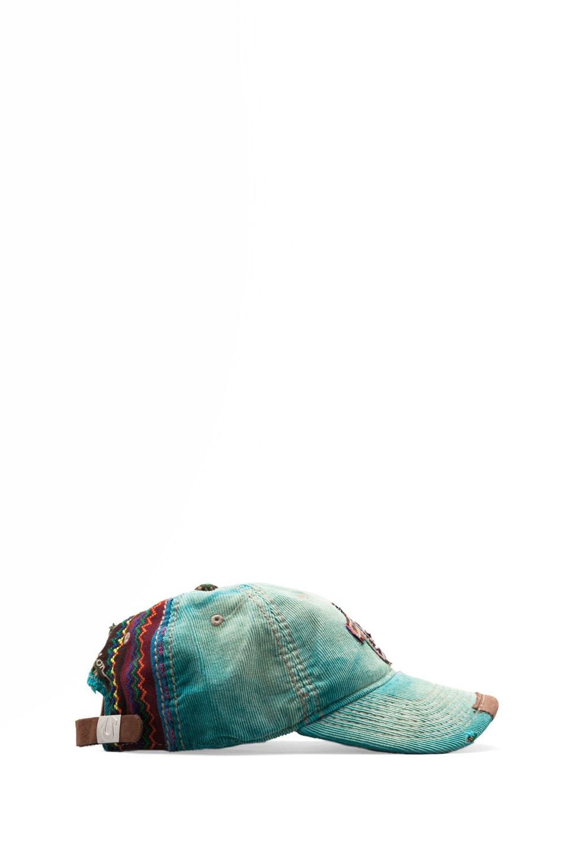 True Religion Corduroy Baseball Cap in Cerulean Blue