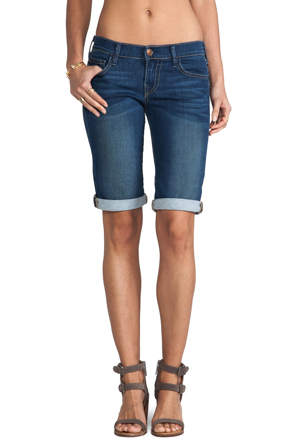 True Religion Savannah Cuffed Short in Ocean Madness