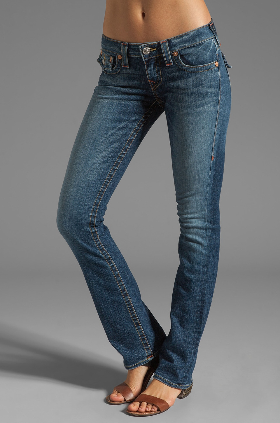 True Religion Billy Straight Leg in Whiskey Blue
