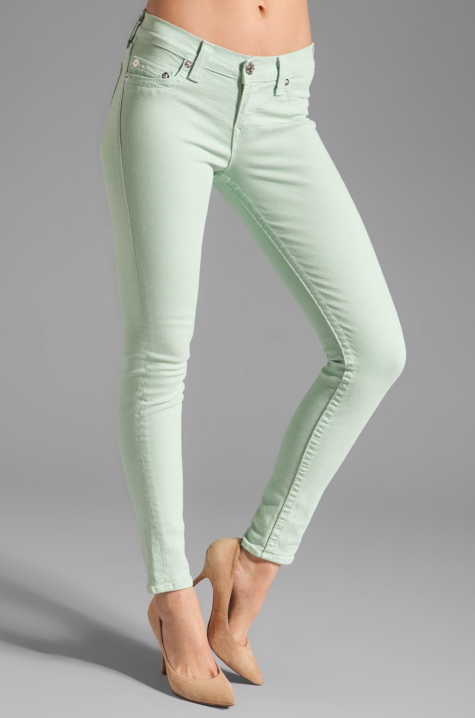 True Religion Halle Skinny Legging in Old Mint
