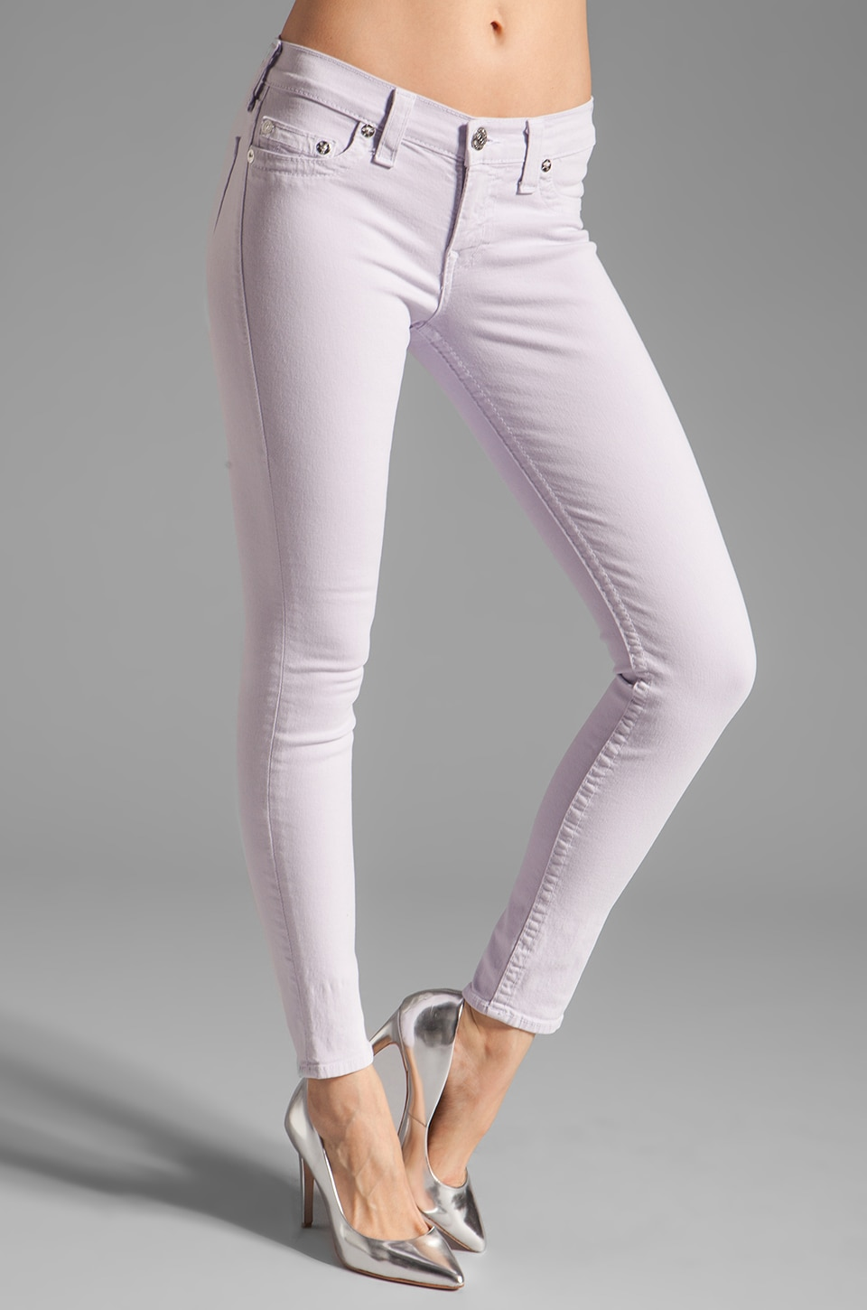 True Religion Halle Skinny Legging in Lilac