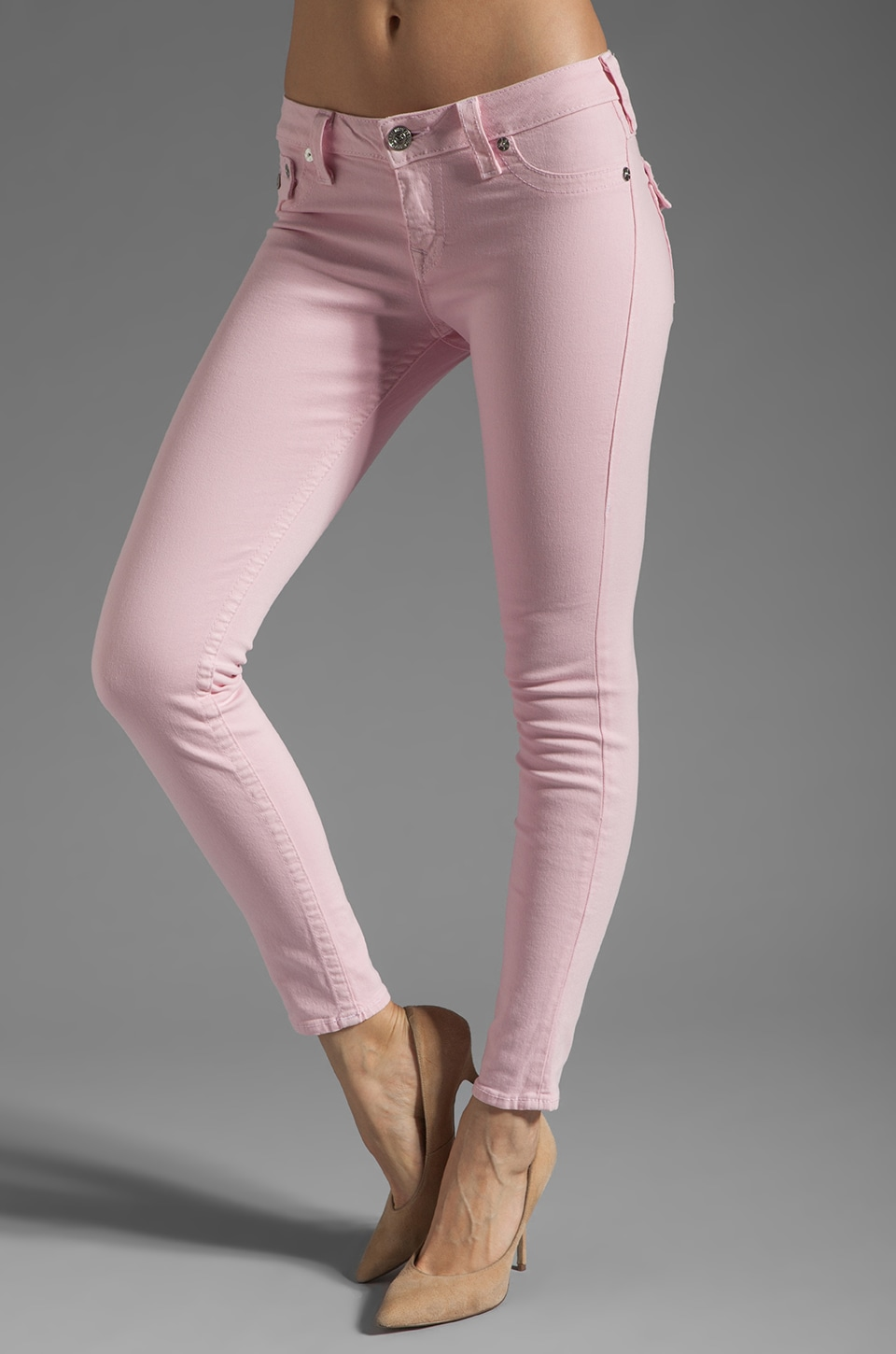 True Religion Serena Skinny Legging in Baby Pink