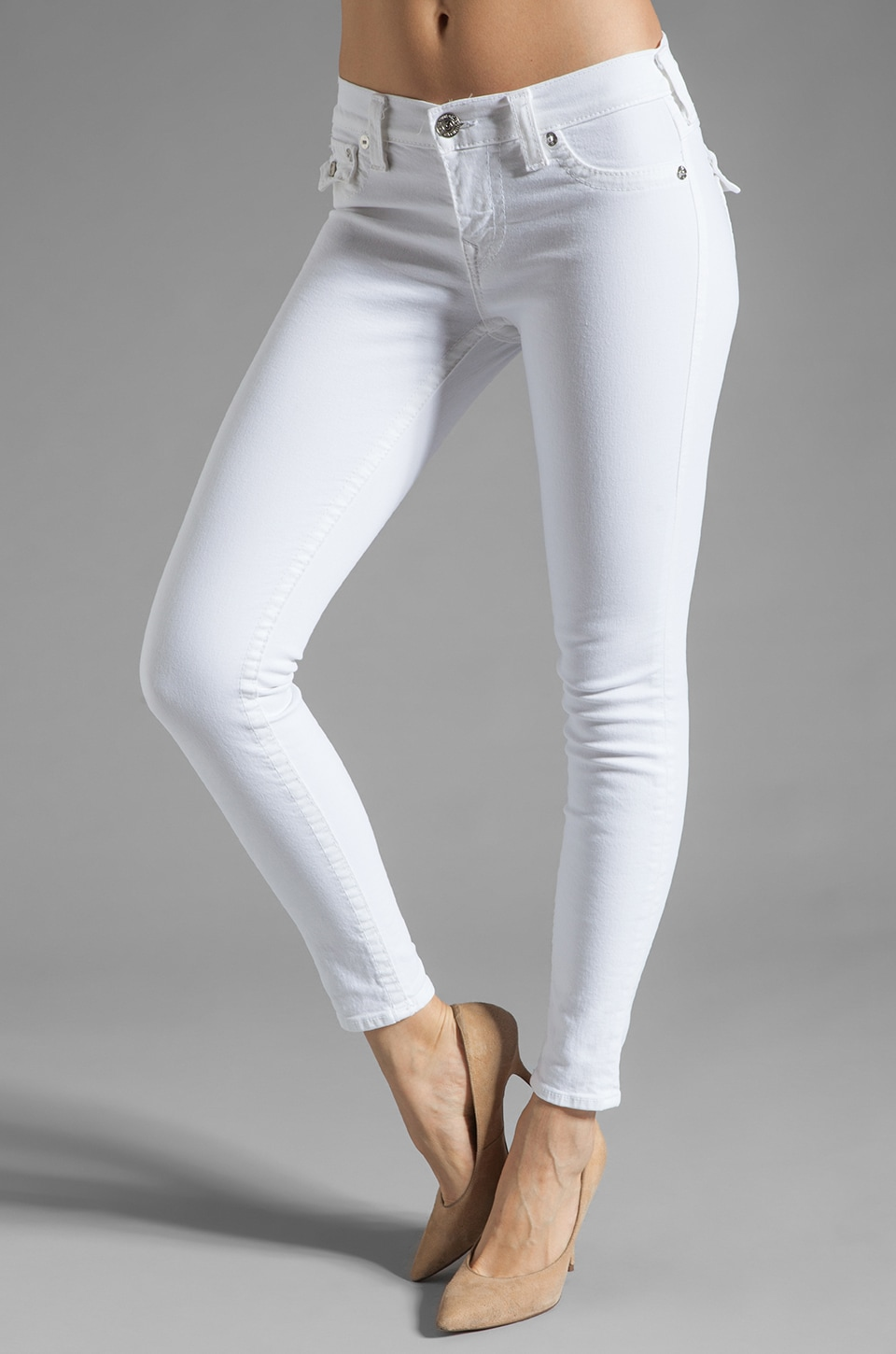 True Religion Serena Skinny Legging in Optic White