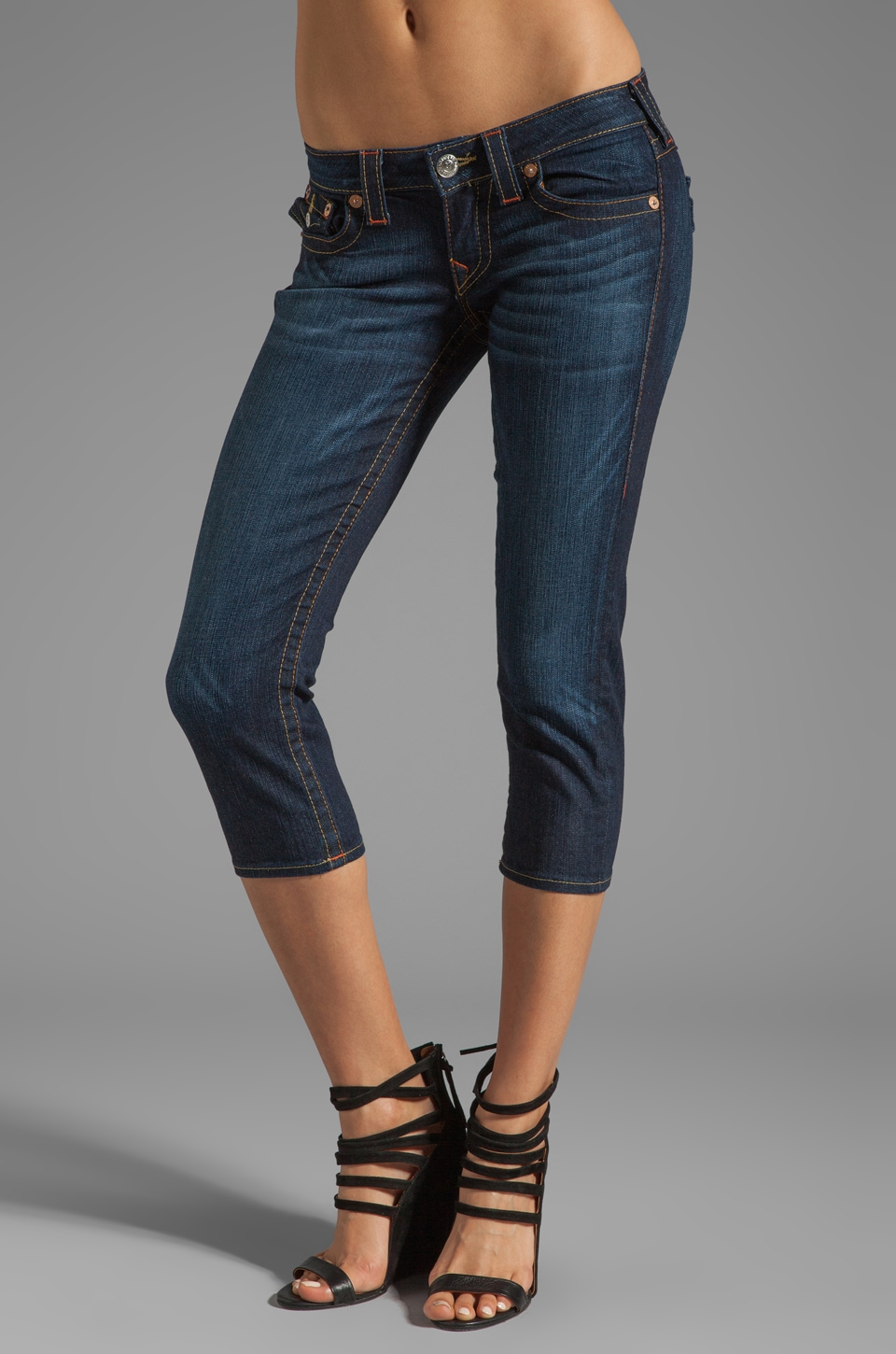 True Religion Lily Cropped Skinny in Dark Pony Express