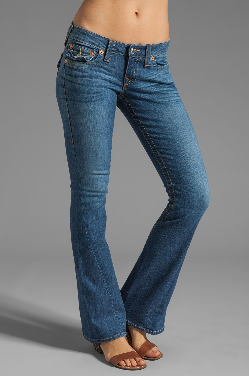 True Religion Classic Joey Twisted Seam Flare Jean in Fallspoint
