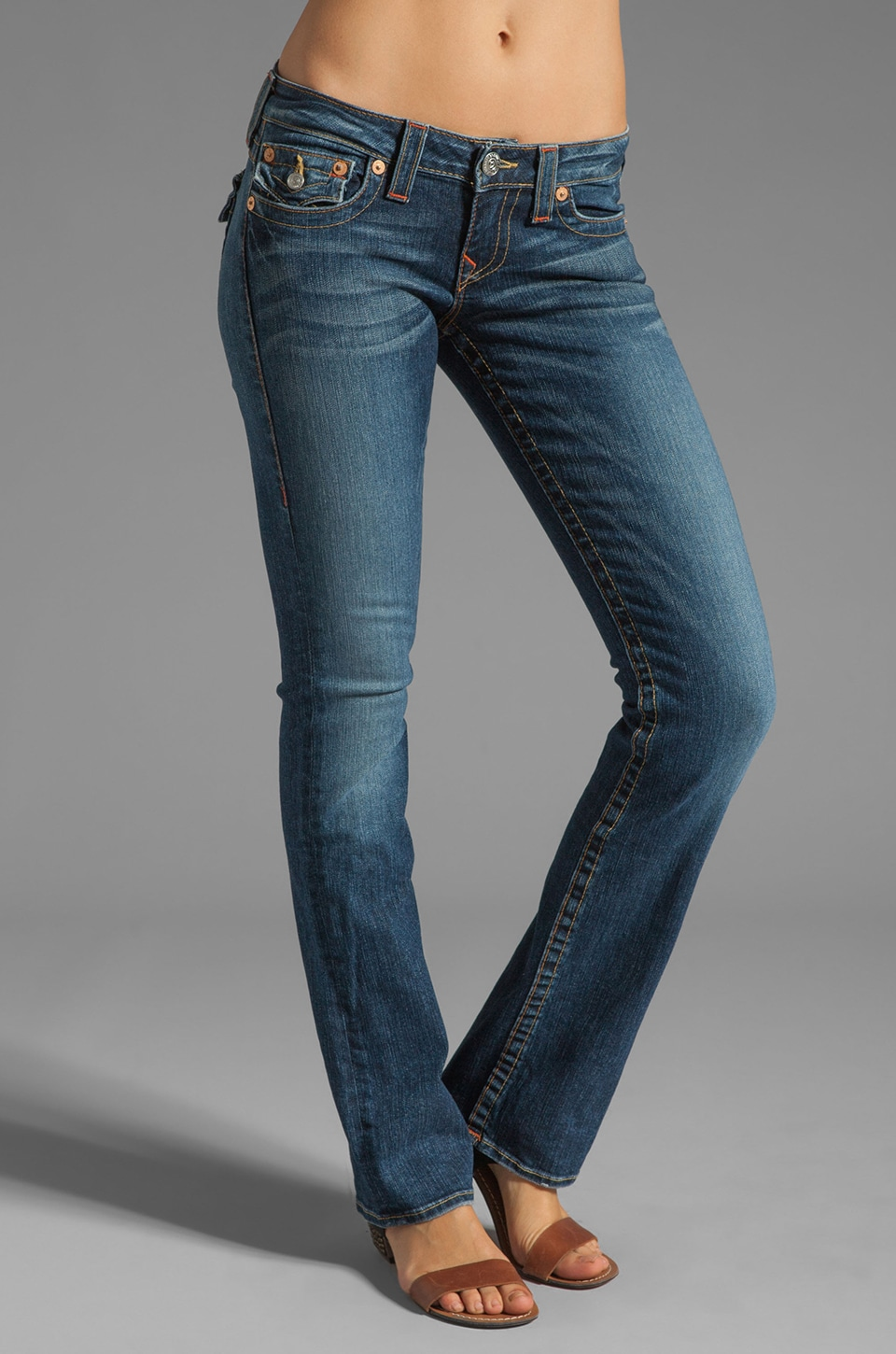 True Religion Classic Billy Straight Leg in Whiskey Blues