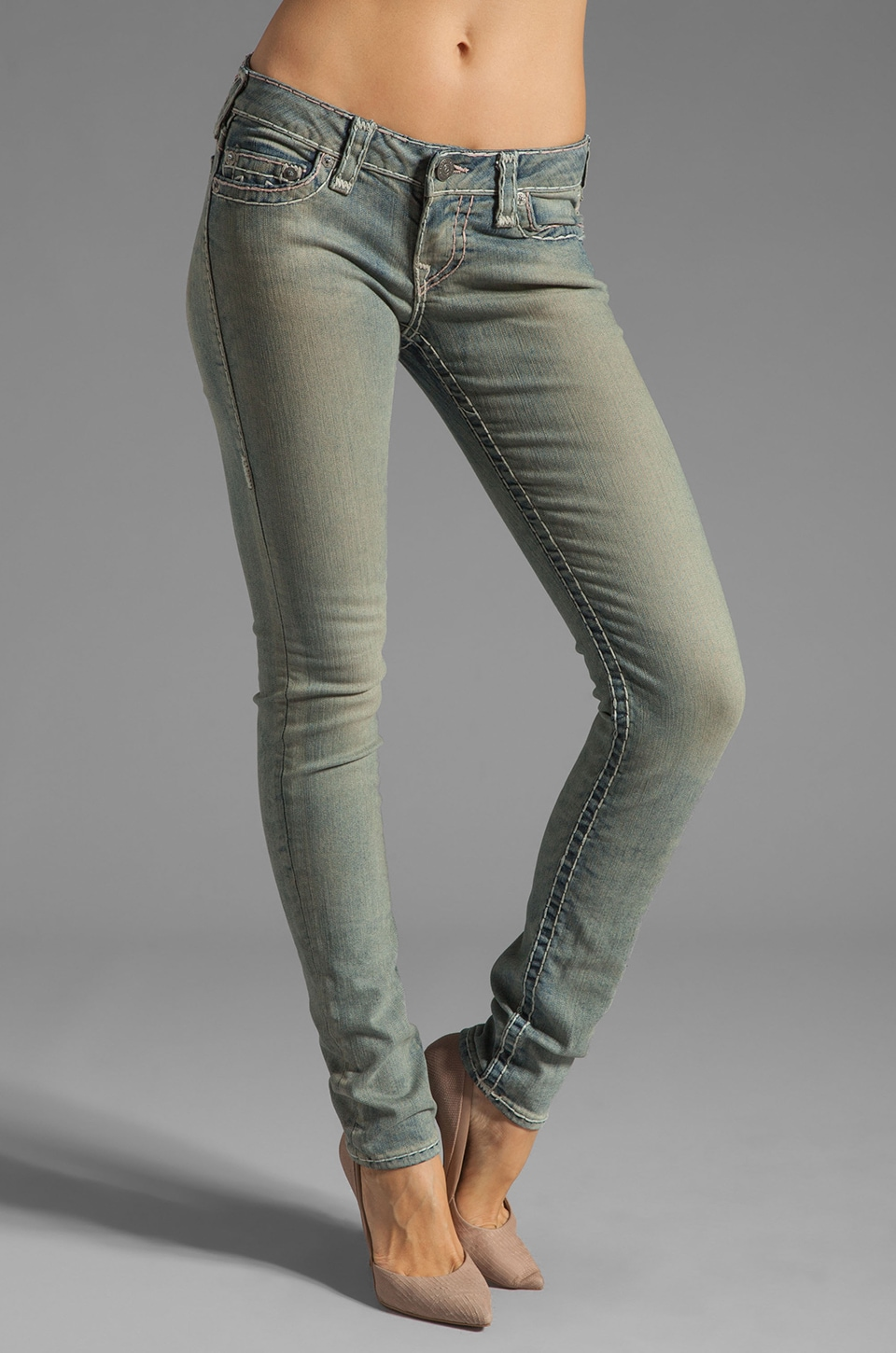 True Religion Stella Super Skinny in Trail Driver