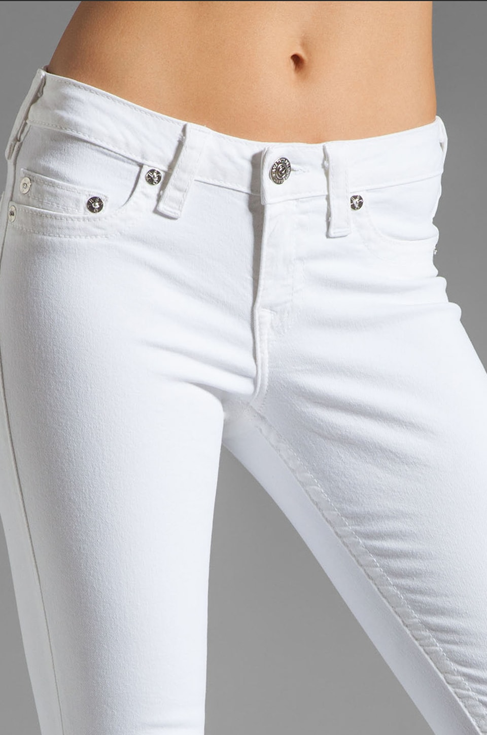 True Religion Serena High Rise Super Skinny in Optic White