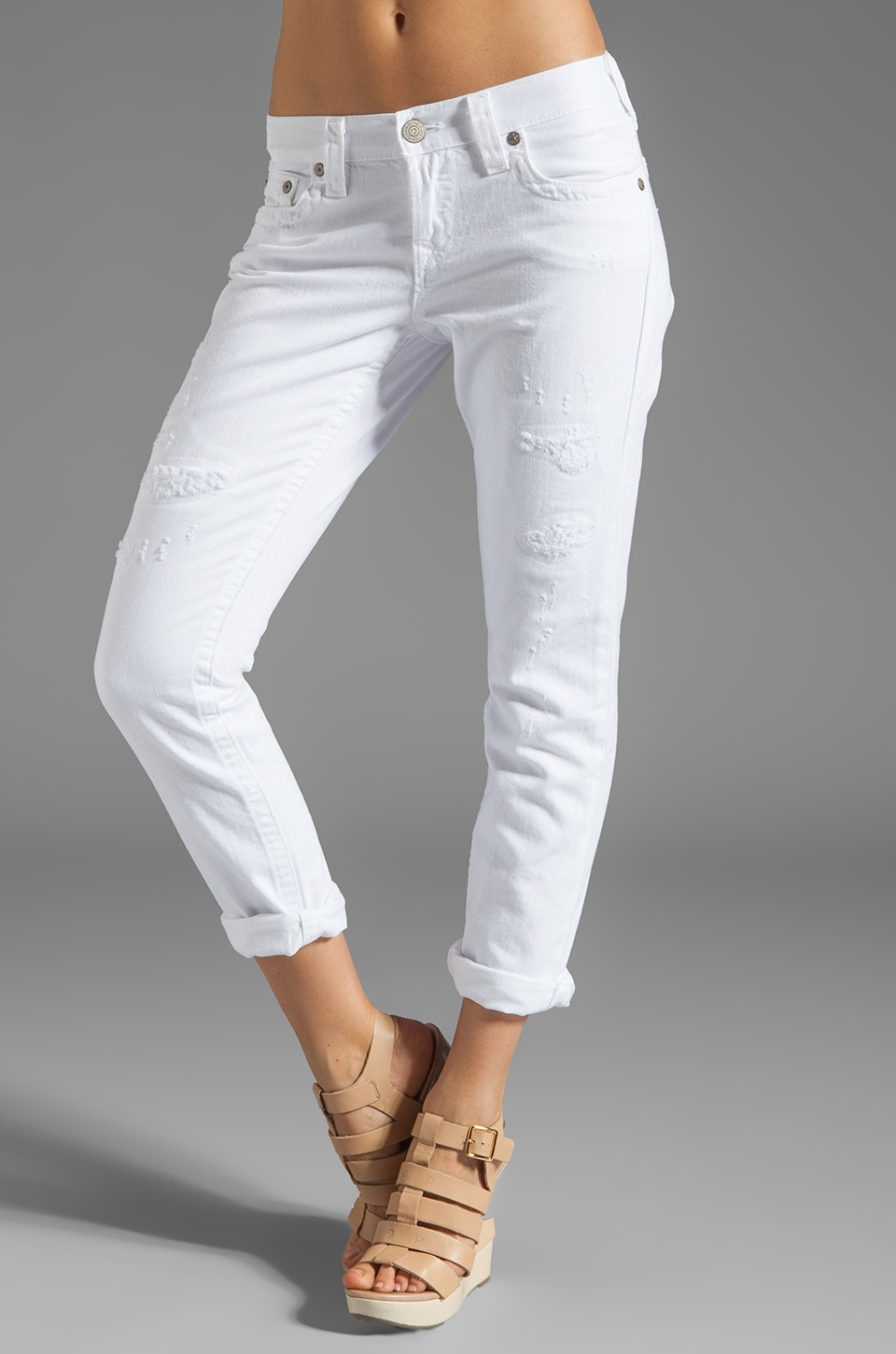 True Religion Brianna Boyfriend in Optic White