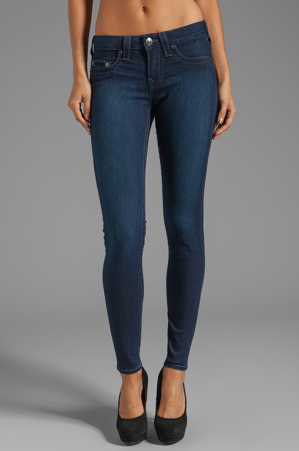 True Religion Halle High Rise Super Skinny in Starlight