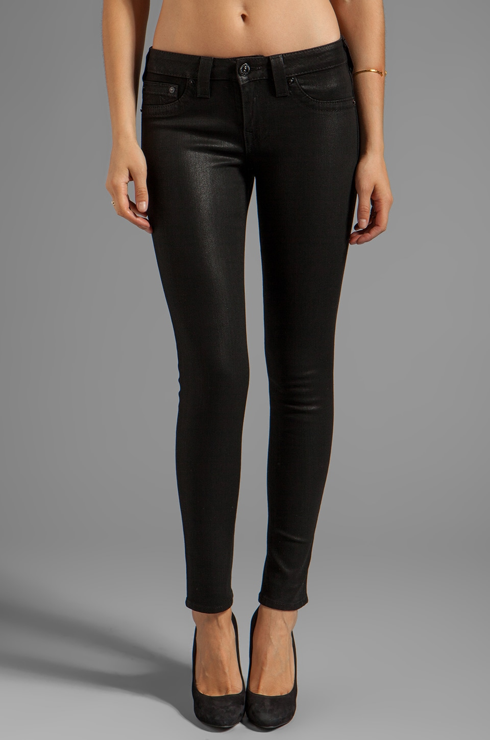 True Religion Halle High Rise Super Skinny in Real Renegade