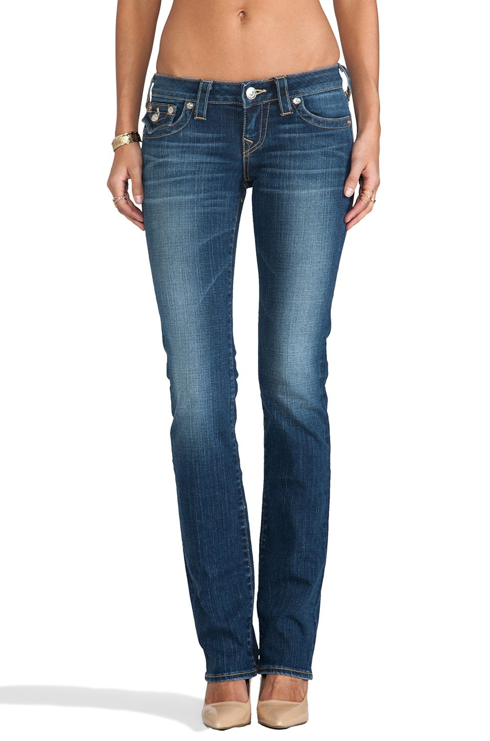 True Religion Billy Low Rise Straight Leg in Del Mar