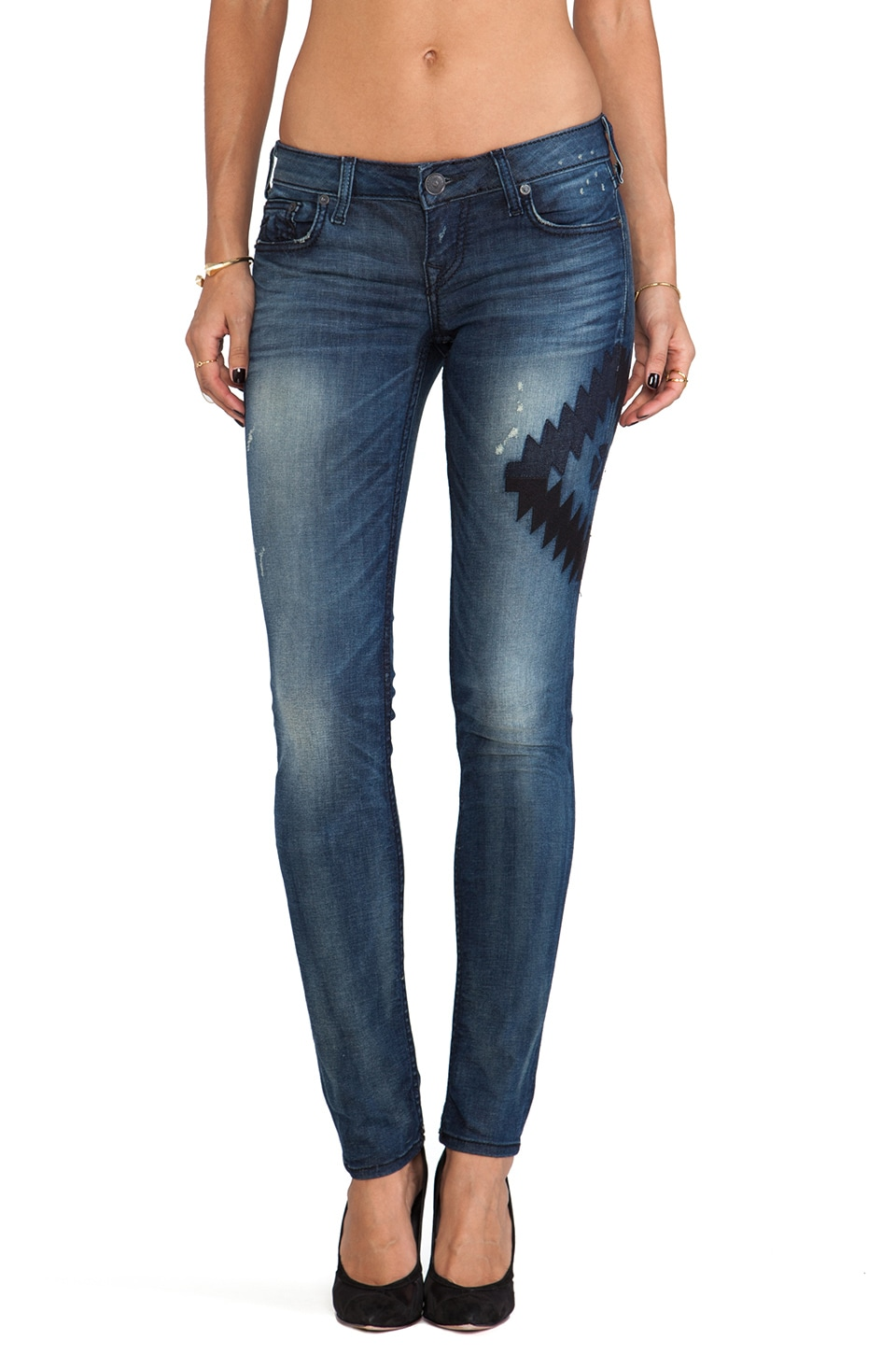 True Religion Stella Low Rise Skinny in Star Dunes