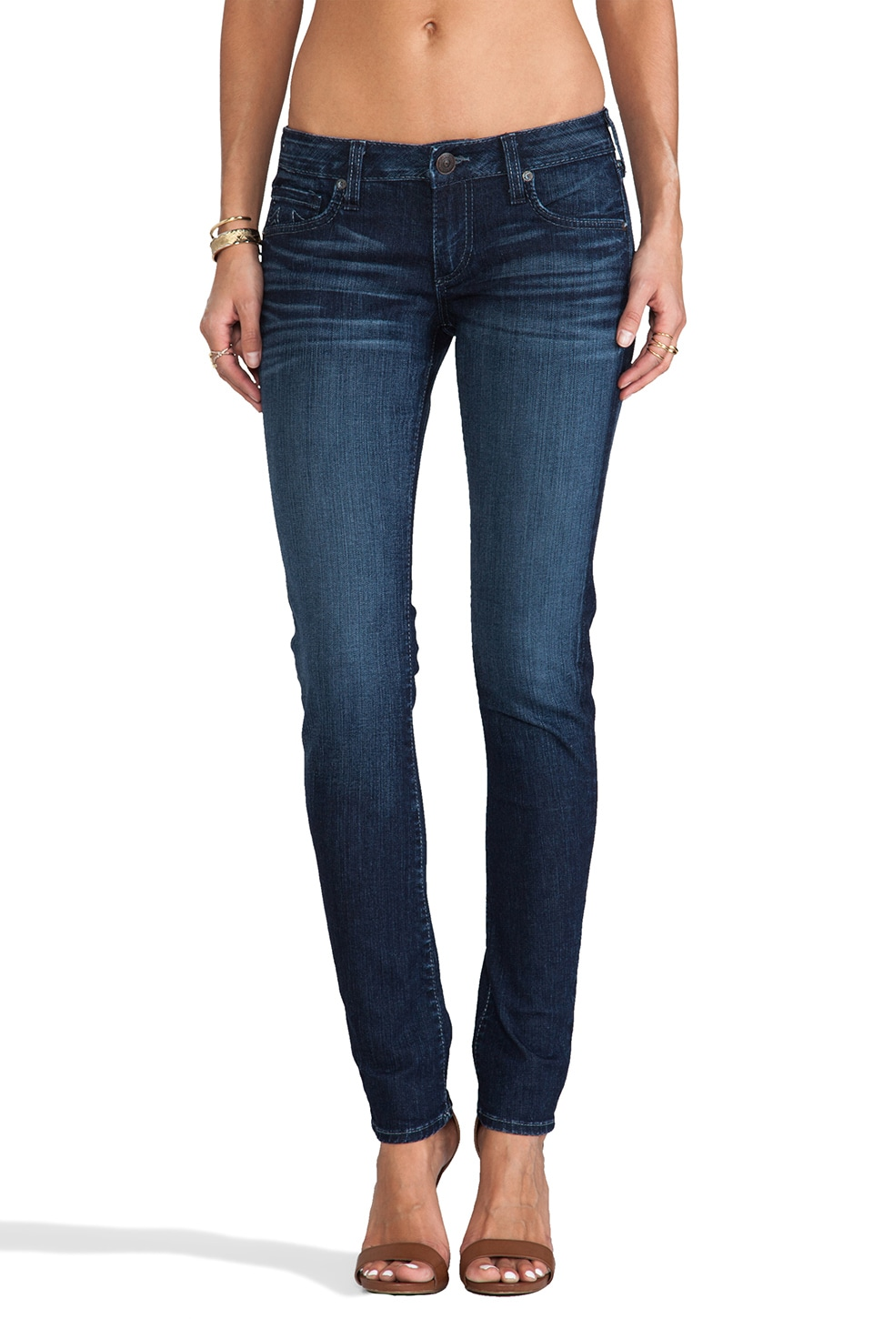 True Religion Jude Low Rise Skinny in Cobalt Skies