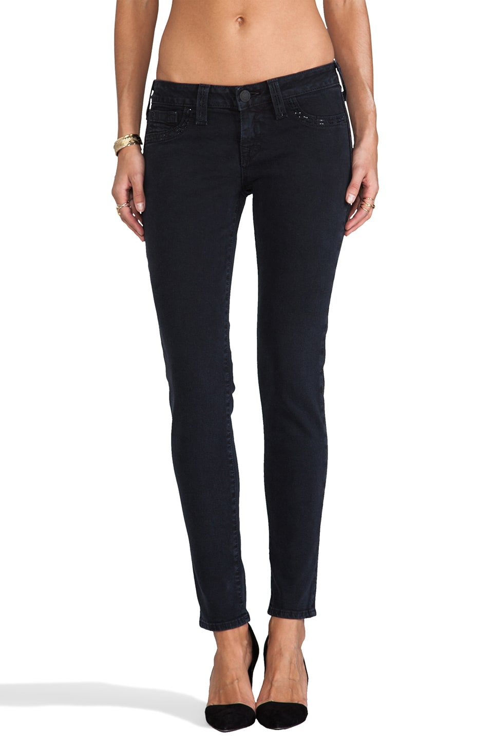 True Religion Casey Mid Rise Super Skinny in Chevelon Canyon