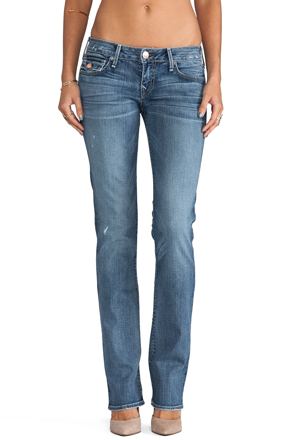True Religion Billy Low Rise Straight in Fallen Angel